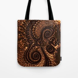 Textured Hammered Copper Tote Bag