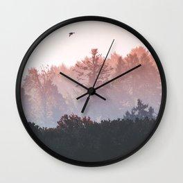 Birds in the fall Wall Clock