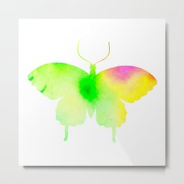 Spring rainbow butterfly Metal Print