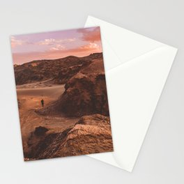 Sunset in Valle De La Luna, Chile Stationery Cards