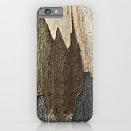 Eucalyptus Tree Bark and Wood Abstract Natural Texture 31 iPhone Case