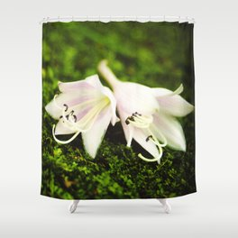 Plantain Lilies Shower Curtain