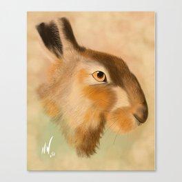 British Brown Hare Canvas Print