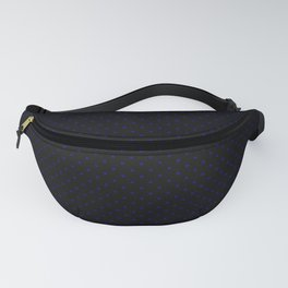 Small Royal Blue on Black Gothic Polka Dots Fanny Pack