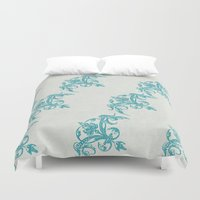 teal Duvet Covers featuring Teal by Juste Pixx Designs