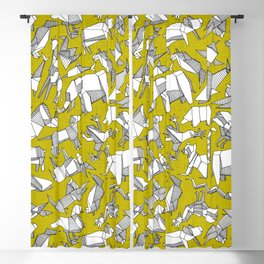 origami animal ditsy chartreuse Blackout Curtain