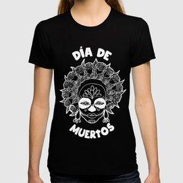 Día de Muertos - Sugar Skull Girl Outline T-shirt