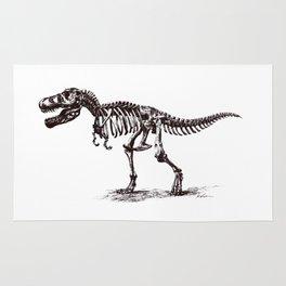 Dinosaur Skeleton in Ballpoint Rug