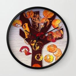 Digital Fall Wall Clock