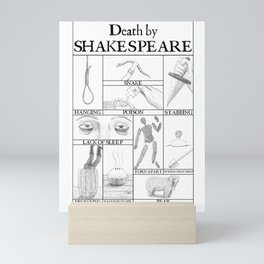 Death by Shakespeare Mini Art Print