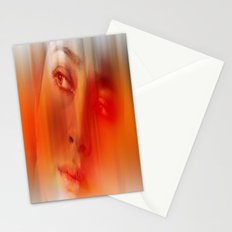 Orange portrait  Stationery Cards
