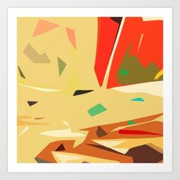 Desert of love Art Print