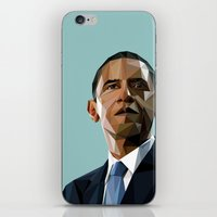 obama iPhone & iPod Skins featuring Geometric Obama by CheekyMonkeyArt