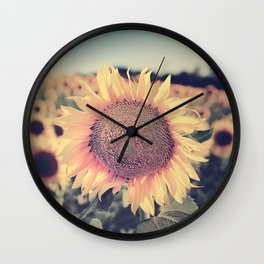 """""""Sunflowers"""" Vintage dreams. Square Wall Clock"""