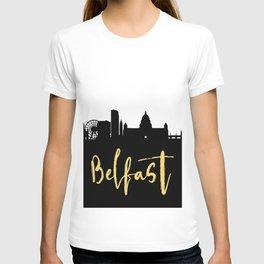 BELFAST NORTHERN IRELAND DESIGNER SILHOUETTE SKYLINE ART T-shirt