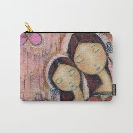 Un Solo Corazón - Mother-Daughter Love by Flor Larios Carry-All Pouch
