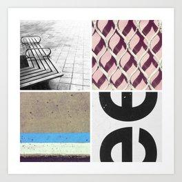 Graphic Quadrant 2 Art Print