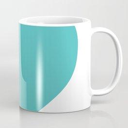 Heart (Teal & White) Coffee Mug