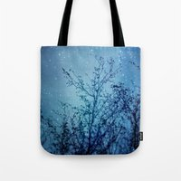 heaven Tote Bags featuring Heaven by The Last Sparrow
