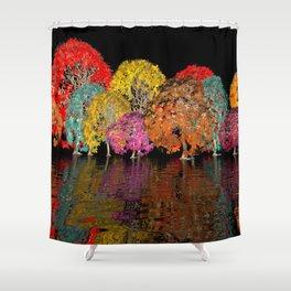 geometric horizon -11- Shower Curtain
