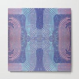 Streaks & Curves Abstract Paint Strokes Metal Print