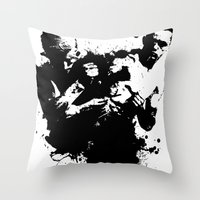 fight Throw Pillows featuring fight by DIVIDUS