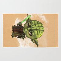 yoda Area & Throw Rugs featuring Yoda by Leoren