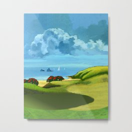 A Hot Day's Boating Metal Print