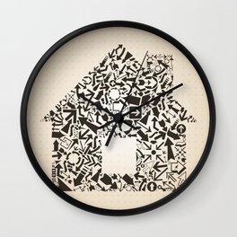 Arrow the house Wall Clock