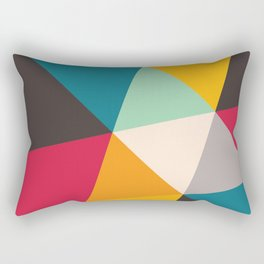 Geometric Triangles Rectangular Pillow