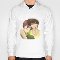 yaoi Hoodies featuring Don't tell them~ by Manos-Art