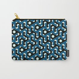 Squiggle Trails Black and Blue Carry-All Pouch