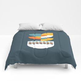 Geometric Plant 02 Comforters