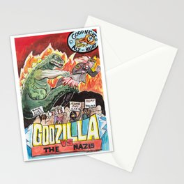 Godzilla vs The Nazis Stationery Cards