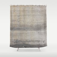 concrete Shower Curtains featuring Concrete by Patterns and Textures