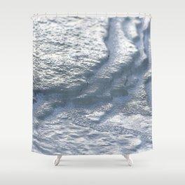 Watercolor Ice 14, Frozen Terraces Shower Curtain