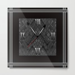 Watch. Black and white pattern . Metal Print