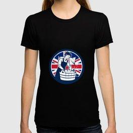British Laundry Union Jack Flag Icon T-shirt