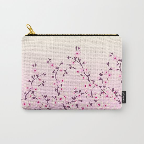 Cherry Blossoms Pink Carry-All Pouch