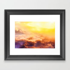 colourful clouds Framed Art Print