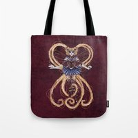 "sailormoon Tote Bags featuring Steampunk Sailormoon by Barbora ""Mad Alice"" Urbankova"