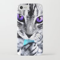 thundercats iPhone & iPod Cases featuring Purple eyes Cat by Augustinet