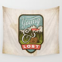camp Wall Tapestries featuring Camp by Seaside Spirit