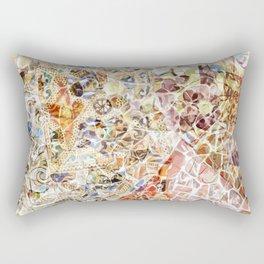 Mosaic of Barcelona IV Rectangular Pillow