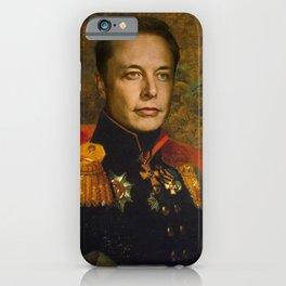 Elon Musk, Classical Painting as General, Regal art iPhone Case