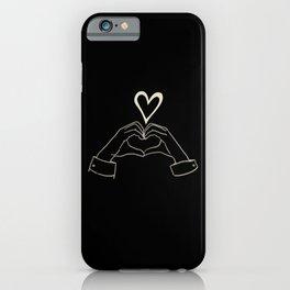 hand heart sign kpop iPhone Case