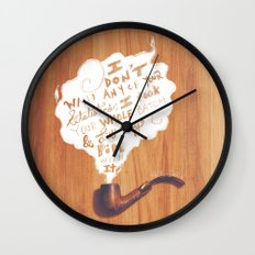 Lit My Pipe Wall Clock