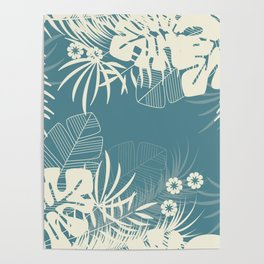 Tropical pattern 047 Poster