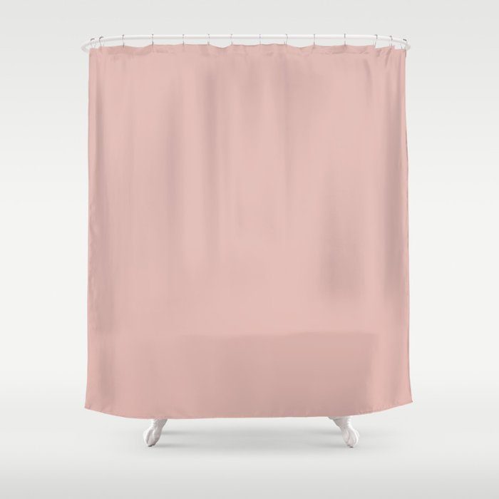 Solid Color Rose Gold Pink Shower Curtain