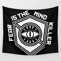 fear Wall Tapestries featuring FEAR by JaymesGraphics